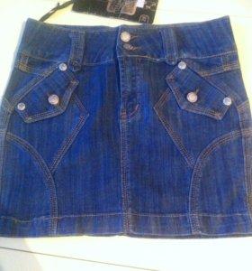 Новая джинсовая юбка XS