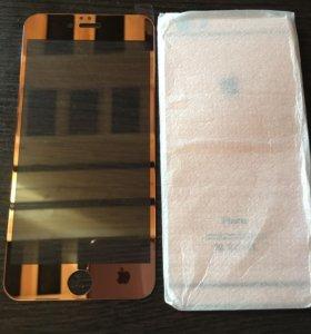 Защитное стекло на iPhone 6 plus rose gold
