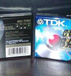 Аудиокассеты новые TDK CD bass 120