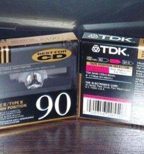 Аудиокассеты новые TDK SA90 хром