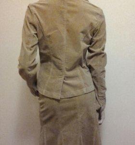 Вельветовый  жакет и юбка