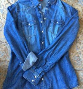 Джинсовая рубашка O'stin размер S