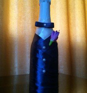 """Бутылка шампанского """"Жених"""""""
