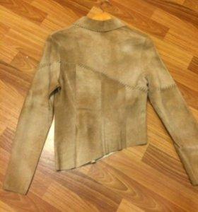 Пиджак куртка кожа замша