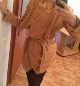 Пальто новое флисовое S