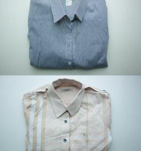 рубашки h&m и burberry