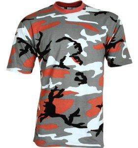 Новая футболка камуфляж мужская на лето, 52 размер