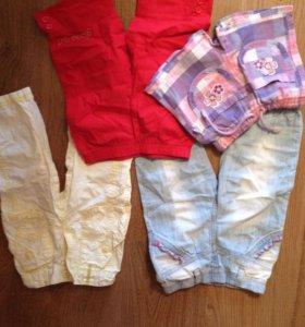 Бриджи и брюки на девочку 3-4 лет
