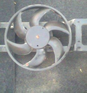 Вентилятор охлаждения Рено Логан Renault Logan