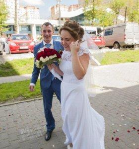 Лёгкое и нежное свадебное платье