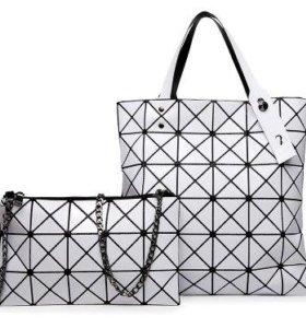 Геометрическая стильная сумка на плечо
