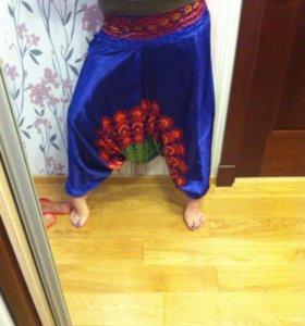 Новые штаны аладины шелковые безразмерные