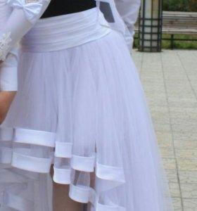 Продам свадебное платье в стиле кан кан.