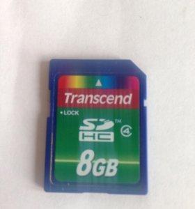 SD карта на 8 гигабайт
