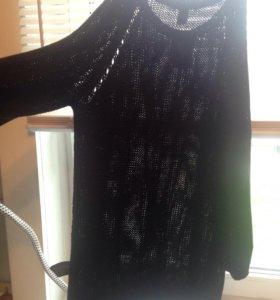 Новый хлопковый вязаный свитер H&M S