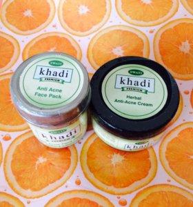Крем и маска KHADI от акне