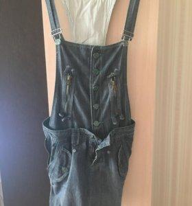 Джинсовый комбинезон (юбка)