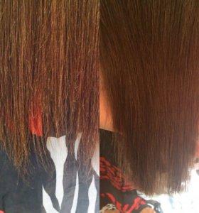 Полировка и коллагеновое обертывание волос