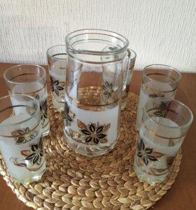 Набор. Стекло. Графин + 6 стаканов