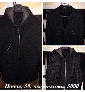 Мужское пальто, осень-зима, 50, новое