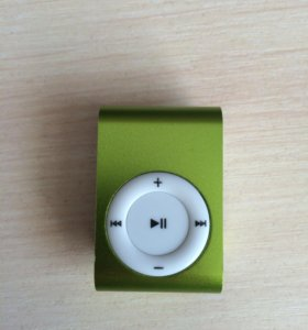 MP3 player in a green