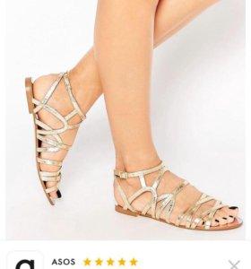 Новые сандали Asos кожа 37.5-38.5