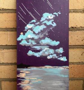 """Картина """"Violet starfall"""""""