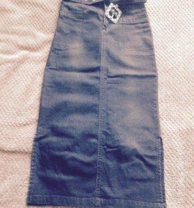 Джинсовая юбка 40