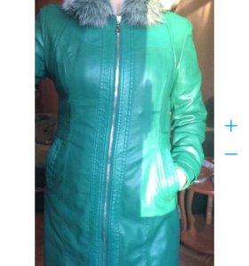 Пальто из очень мягкой кожи на осень и весну