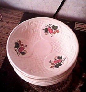 Тарелки десертные, фарфор