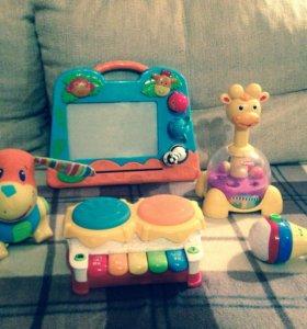 Развивающие игрушки tiny love, playschool, playgro