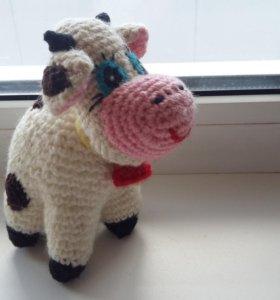 Вязаная коровка