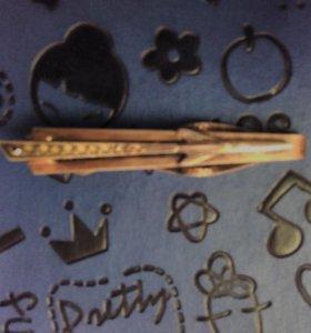 Зажим для галстука ракета(серебро 875 со звездой)