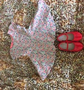 Платье и туфли 92 см Mothecare