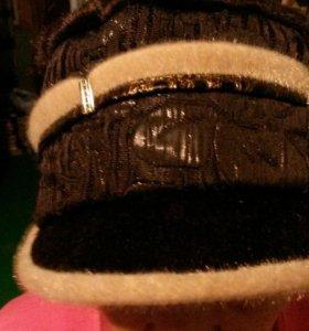 Шапка коричневая демисезон женская.54размер