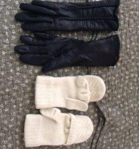 Перчатки размер 6,5 кожаные