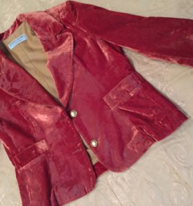 Пиджак для девочки велюр на 10 лет