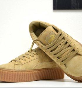 Кроссовки Puma Rihanna бежевые
