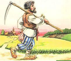 Покос травы триммер