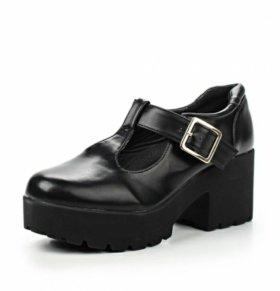 25,5 см Туфли на устойчивом каблуке