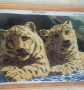 Два тигра 30×40