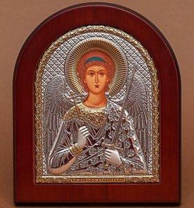 Серебряная икона ангел хранитель, Греция
