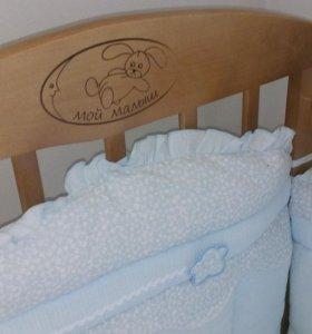 Детская кроватка,  матрац