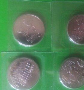 Набор 25 рублей!!! 4 монеты