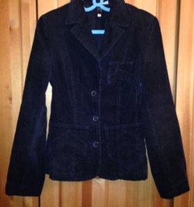 Пиджак и бриджи черные вельветовые 42-44 р-р.