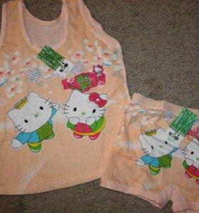 Комплект (майка+шортики) Hello Kitty
