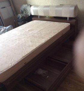 Кровать полуторка с матрасом торг у местен