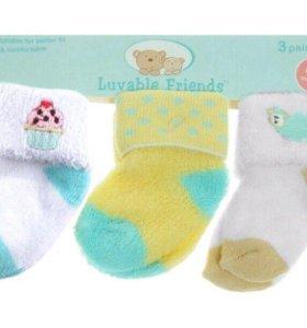 НОВЫЕ детские носочки 3 пары