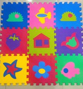 Детские мягкие коврики пазлы