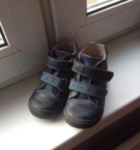 Кожаные ботиночки на мальчика